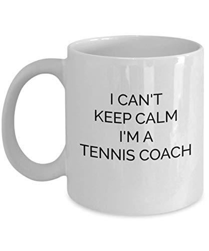 Lustige Tennis Trainer Tasse Ich kann nicht ruhig bleiben Beste Geschenkideen für Lehrer Männer Frauen Auge Kaffeetasse - whitemug1790