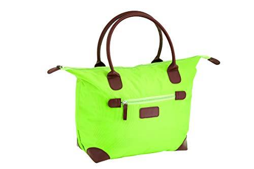 Damen Nylon Shopper Tasche Wasserdichte Handtaschen Faltbare Schultertaschen, TA- 1092 Grün