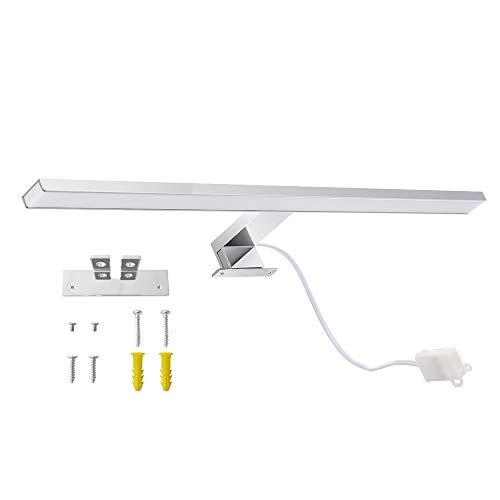 Galapara LED spiegellamp badkamer 8W IP44 badlamp neutraal wit 800LM voor badkamer wandmontage spiegellamp, roestvrij staal wandlamp spiegellamp 60cm spiegelverlichting