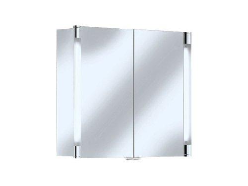 Keuco 13802171302 Spiegelschrank Royal T2 13802 mit Schubkästen, 900 x 700 x 166 mm, silber - eloxiert