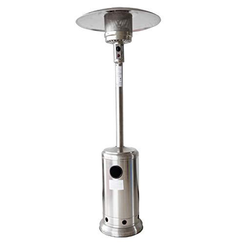YaGFeng Calentador De Paraguas De Calor Rápido Estufa De Calefacción De Gas Vertical Gas Licuado Gas Natural Patio Exterior Estufa De Calefacción Doméstica,Stainlesssteel