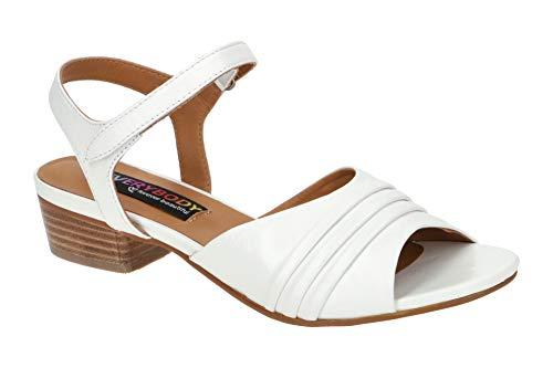 Everybody Damen Sandalette - Riemchen Sandalen Isatis 20891B4114 White Weiß, EU 41