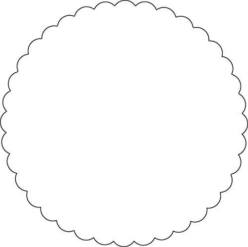 HERMA 6106 Siegelmarken rund (Ø 50 mm, Papier, matt) wasserlöslich gummiert und mit gewelltem Rand, 1.000 Siegelsterne, weiß