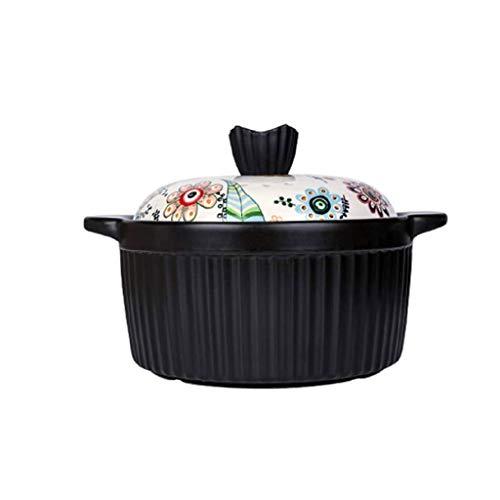 YWSZJ Casserole, gaz grande marmite à soupe, pot ménages à fond plat à haute température en céramique Pot marmite à soupe