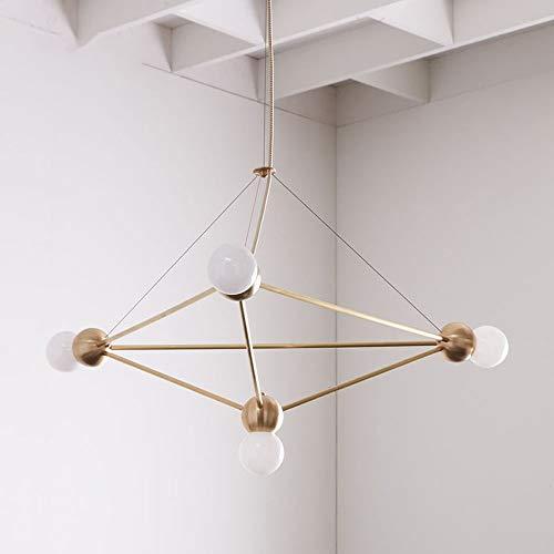 Beautiful lamps/moderne moderne minimalistische hanglamp van ijzer duplex piano geometrie van de metalen hanger van de bol van champagne DIY plafondlamp