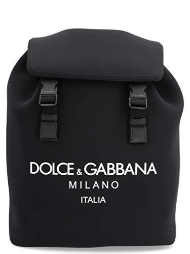 Luxury Fashion | Dolce E Gabbana Uomo BM1756AA350HNII7 Nero Poliammide Zaino | Stagione Permanente