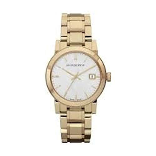 The City BU9103 Damen-Armbanduhr mit Datumsanzeige, 34 mm, goldfarben / silberfarben