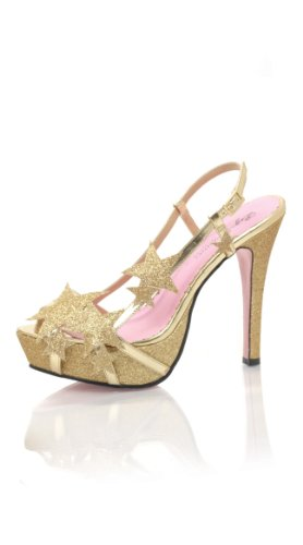 Leg Avenue Shoes - Chaussures a Talons Starlette - Taille 36 - Couleur Or