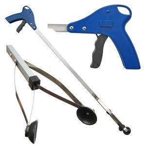 ArcMate ReachMate Greifzange mit Positionsloch, Greifhilfe mit Saugnapf für Finger, 2,3 kg Pickup Kapazität für drinnen und draußen, 10,8 cm breite Backen, 3 Größen 32 Inch blau/schwarz