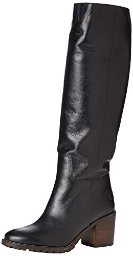 Shabbies Amsterdam Damen SHS0721 BOOT 7 CM SHINY GRAIN LEATHER, Black, 40 EU