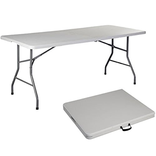 TimmyHouse Folding Table 6' Portable Plastic Indoor Outdoor Picnic Party Camp Tables