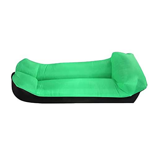 Poltrona gonfiabile, divano gonfiabile portatile anti perdite, impermeabile pigro letto divano per cortile, piscina/spiaggia (verde)
