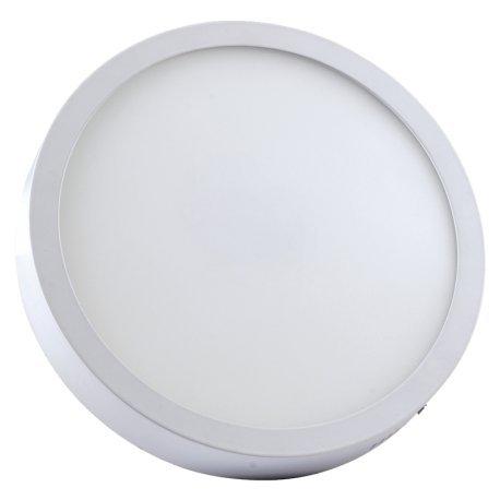 Alverlamp DL30PL60S - Downlight LED, 30W, 6000K, superficie redondo blanco, chip Led Osram
