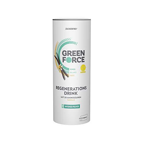 GREENFORCE Intense Veganes Proteinpulver Vanille aus Erbsen-Protein | leckerer Protein-Drink oder Shake zur Regeneration | veganer, glutenfreier Protein-Drink für Sport und Alltag | 500 g