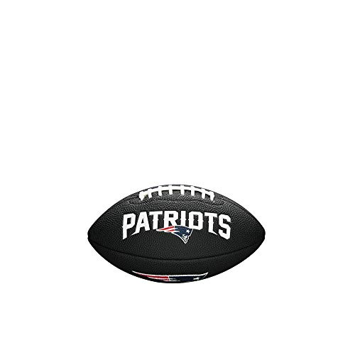 Wilson Unisex-Youth MINI NFL TEAM SOFT TOUCH FB BL NE American Football, BLACK,