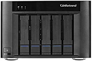 Infortrend | GSEP2050000D-0032 | EonStor GSe Pro 200 5bay, Desktop Cloud-Integrated Unified Storage, Intel D1508 2.2 GHz 2C CPU, 2x4GB, with 10TB (2TBx 5)