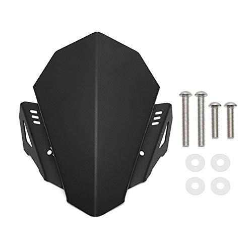 LOOEST Windschutzscheibe for Yamaha MT-07 MT07 2018 2019 2020 Motorrad-Aluminium-Legierung Sport Windschutzscheibe Viser Visor Windschutz Motorrad Windschutzscheibe (Color : Black)