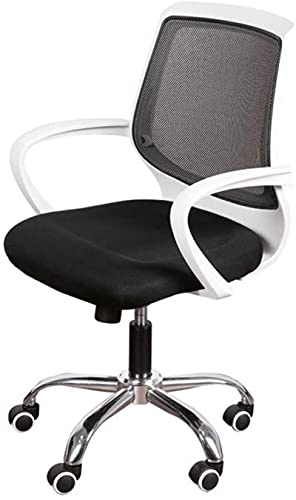 Bar pall Bekväm gäststol - Home Chair, Comfortable Andningsstol Lätt att rengöra Stol Dator Swivel Chair Personal Chair Office Chair Reception Chair Office Supplies (Färg: Green) (Color : Black)