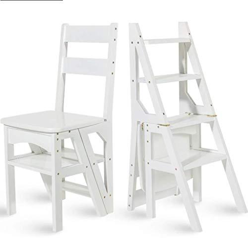 Yxsd multifunctionele huishoudladder kruk massief hout kinderen klapstoel dual use-ladder ladder 38 × 39 × 60 cm
