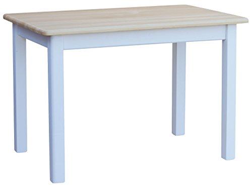 COMA Cocina Mesa 100x 60cm comedor mesa (Madera de pino blanco miel Nuevo fabricante