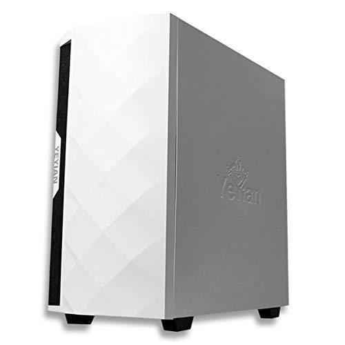 YEYIAN Caja Pc Gaming PC Abyss 2500 , ATX, M-ATX, ITX, EATX, Panel Lateral de Vidrio Templado, Audio HD, 2 USB 3.0 y Audio in, Iluminación ARGB, Incluye 3 Ventiladores ARG 120MM - YGA-49702 (Blanco)