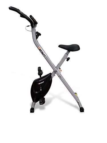 Athlyt - Cyclette Pieghevole per Esercizi, Unisex, Colore Grigio