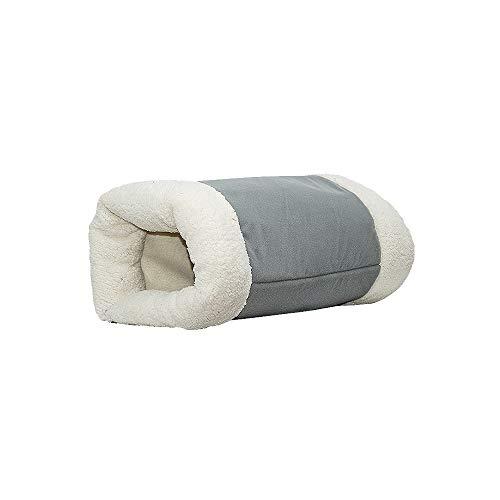 Jnzr Kat Slaapzak, Ring Papier Kat Slapende Hond Warme Kat Rits Nest Zachte Magische Slaapzak Verwijderbare Was Huisdier Deken Pad Dual-Gebruik Pluche Huisdier Nest