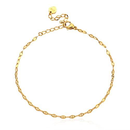 Ringerlet Stainless Steel Anklet Bracelet Gold Beach Anklets Adjustable Chain Bracelet Foot Jewelry Summer Jewelry