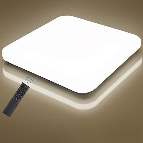 LED Deckenleuchte Dimmbar, Oeegoo 24W 2050LM LED Deckenlampe Dimmbar mit Fernbedienung, Flimmerfreie Led Lampe für Schlafzimmer Wohnzimmer Kinderzimmer Küche, 2700K-6500K