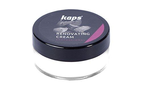 Kaps Crema Ristrutturante Riparatrice per Scarpe in Pelle Liscia e Borse, Copri Graffi e Screpolature, Renovating Cream, 10 colori (101 - Bianchi)