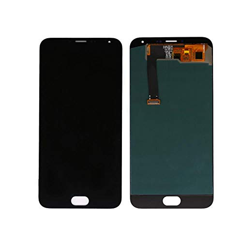 Handy for Meizu MX-5 LCD Display mit Touch Panel Digitizer for Meizu MX-5 Display-5.5 Armaturen Teile (Color : Black, Size : 5.5