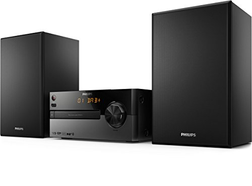 Philips BTB2515/12 Mini Stereoanlage mit DAB plus (Bluetooth, Alarm, CD, USB, 15 W) schwarz