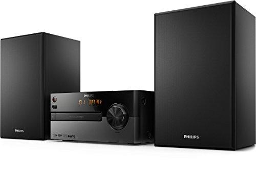 Philips BTB2515/12 Mini Impianto Stereo (DAB+, Bluetooth, Entrata Audio da 3,5 mm, USB Direct, 15 Watt), Nero
