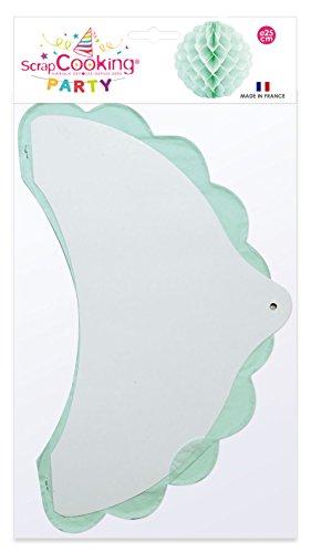 SCRAP COOKING 0291 Boule Alvéolée, Papier de Soie, Vert, 30 x 17,5 x 0,5 cm