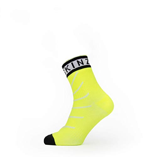 Seal Skinz Waterproof Warm Weather Ankle Length Chaussettes Homme, Neon Yellow/Black/White, XL