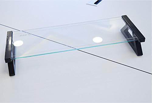 VIVOCFan Gehärtetes Glas Monitorständer,USB Computerständer Riser,ergonomische Laptop-ständer Riser,für Home Büro Tastaturspeicher Transparentes Gehärtetes Glas 57x21x9cm(22x8x4inch)