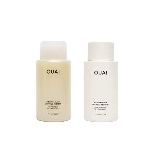 OUAI Medium Shampoo + Conditioner Set. Free from Sulfates. 10 oz Each.