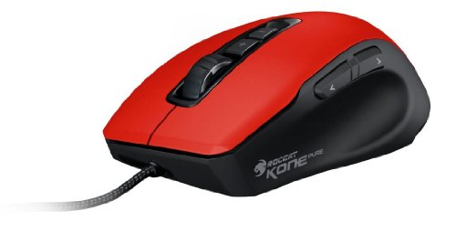 Roccat Kone Pure Color Hellfire Red Gaming Maus (8200 DPI, USB 2.0, 1,8m) rot