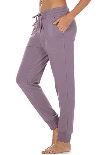 icyzone Pantalones deportivos para mujer con bolsillos