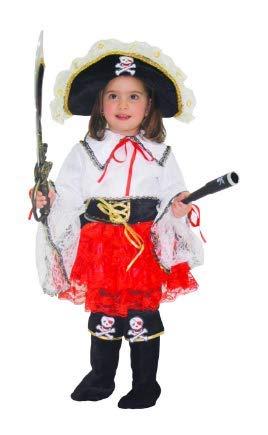 Déguisement Petite Pirate Carnaval 3 BIANCO