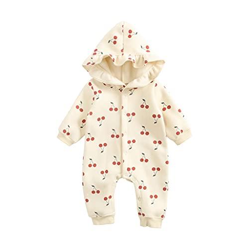 UMore Pijama de Forro Polar Bebé Niños Niñas Mono de Manga Larga Mameluco Body Algodón Peleles Comodo Pijama Regalo de Recien Nacido