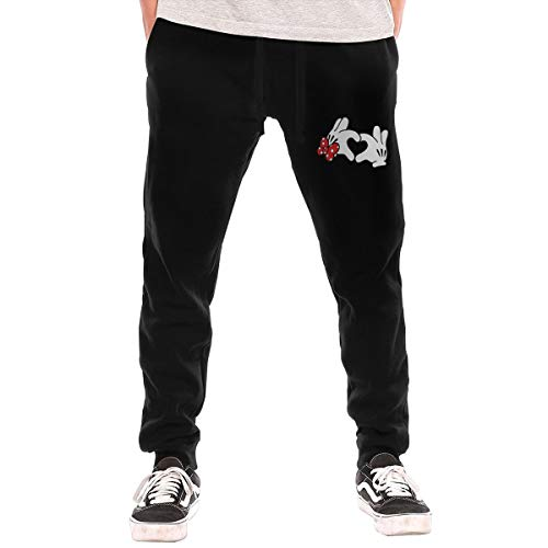 KAMEOR Man Funny Mickey Herz Mit Schleife with Pockets Jogger Sweatpant Black 3XL