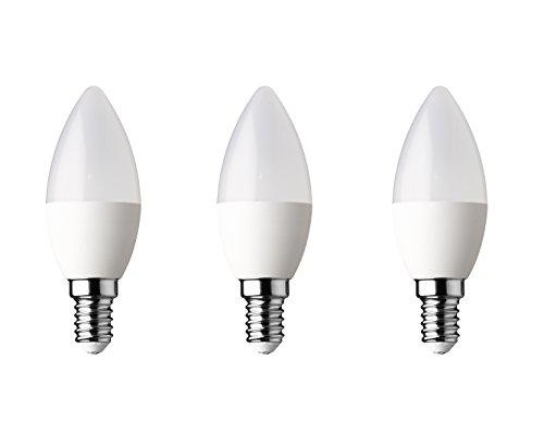 WOFI lamp plastic E14, 8,5 W, frosted glas 3,5 x 3,5 x 100 cm, 3 stuks