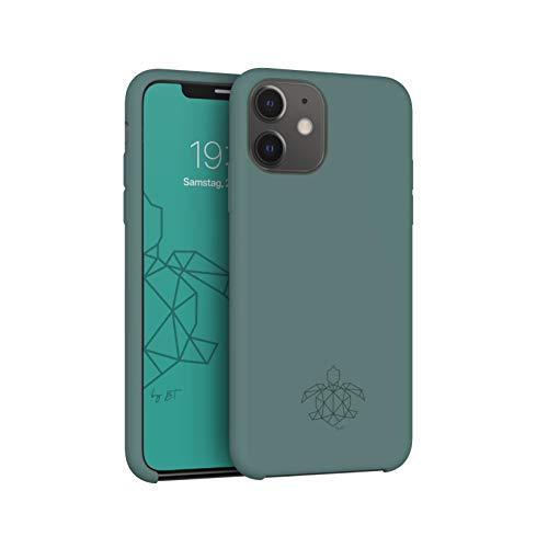 turtleandcase Hülle Kompatibel mit iPhone 11 und kostenlosem Panzerglas. Silikon Handyhülle. Dünne Schutzcase und Stoßfest für iPhone 11 6.1 Zoll (Piniengrün)
