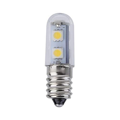 Gobutevphver Luce Mini E14 1W 7 LED 5050 SMD Natura/Luce Bianca Calda per Macchina da Cucire Lampada Frigorifero 110V/220V Lampadina LED - Bianco Caldo