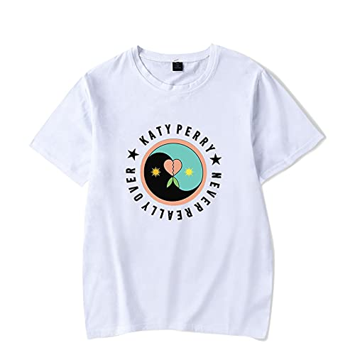 CAFINI Camiseta De Katy Perry, Jersey De Manga Corta con Estampado De Cantante Informal Y Cmodo, Top De Moda Urbana para Hombres Y Mujeres (2XS-4XL)