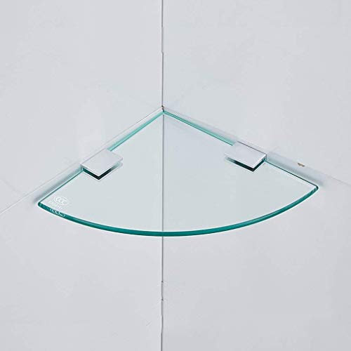 MLOZS Baño de un Solo Piso Ducha Ducha Caddy Glass Storage Rack para Suministros de Cocina con tabique de Toalla (Size : 24cm)
