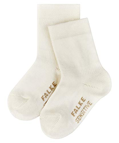 FALKE Unisex Baby Sensitive B SO Socken, Blickdicht, Weiß (Off-white 2040), 6-12 Monate (74-80cm)