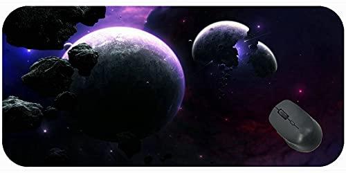 Desk Pad Mat Gaming Podkładki pod mysz, Planety Asteroidy Fragmenty Komfortowa mata myszy do gier i biura