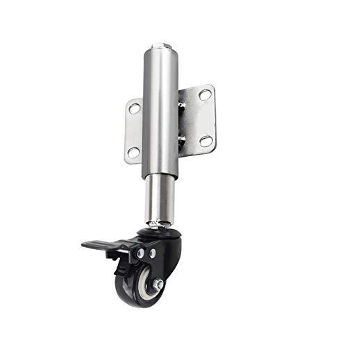 DQAW Rueda para puerta con suspensión, 40 mm, altura ajustable 60 mm, 50 kg de capacidad de carga y soporte universal.
